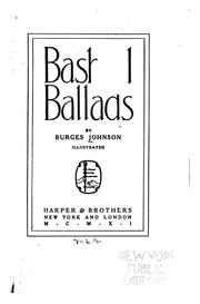 Cover of: Bashful ballads