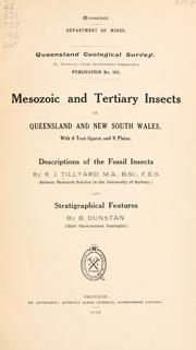 Cover of: Mesozoic and Tertiary insects of Queensland and New South Wales