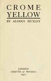 Cover of: Crome Yellow: A Novel