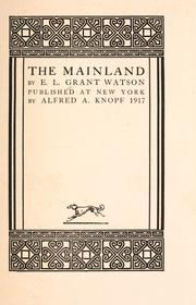 Cover of: The mainland