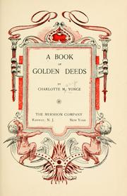 Cover of: A Book of Golden Deeds