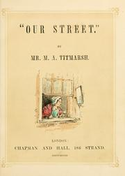 "Cover of: ""Our street."""