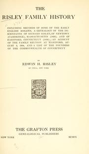 Cover of: The Risley family history
