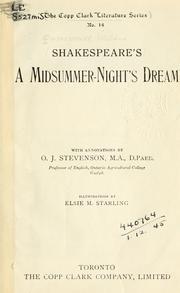 A midsummer-night's dream.