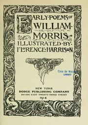 Cover of: Early poems of William Morris | William Morris