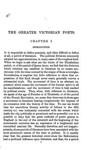 Cover of: The greater Victorian poets