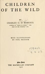 Cover of: Children of the wild