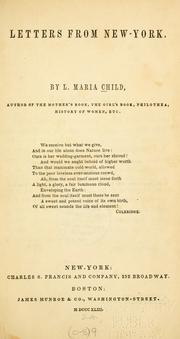 Letters from New York by Lydia Maria Francis Child