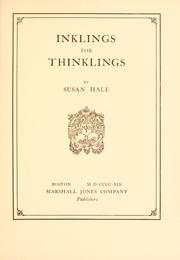 Cover of: Inklings for thinklings