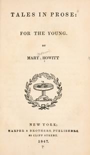 Cover of: Tales in prose: for the young