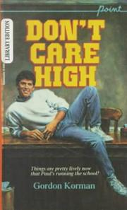 Cover of: Don't Care High