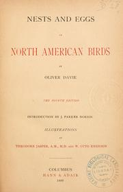 Nests and eggs of North American birds by Oliver Davie