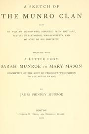 Cover of: A sketch of the Munro clan by James Phinney Munroe