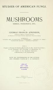 Studies of American fungi by George Francis Atkinson