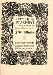 Cover of: Little journeys to the homes of great reformers ..