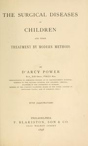 Cover of: The surgical diseases of children