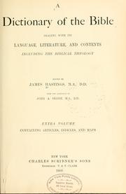 Dictionary of the Bible by James Hastings