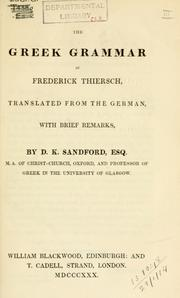 Cover of: The Greek grammar