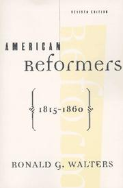 Cover of: American reformers, 1815-1860