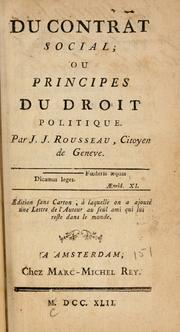 Cover of: Du contract social, ou, Principes du droit politique | Jean-Jacques Rousseau