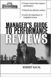 Cover of: The Manager's Guide to Performance Reviews