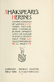 Shakespeare's heroines by Jameson Mrs.