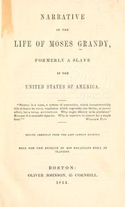 Cover of: Narrative of the life of Moses Grandy | Moses Grandy