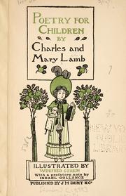 Cover of: Poems and essays of Charles Lamb
