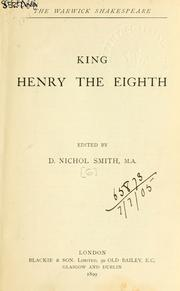 Cover of: The life of King Henry VIII