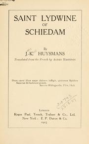 Cover of: Saint Lydwine of Schiedam