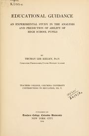 Educational guidance by Kelley, Truman Lee