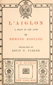 L' aiglon by Edmond Rostand
