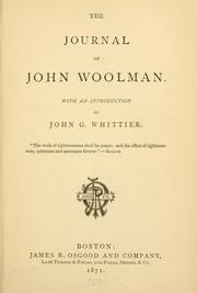 Cover of: The journal of John Woolman