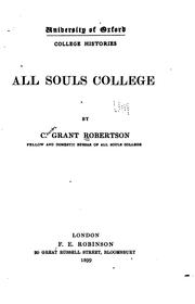 Cover of: All Souls College