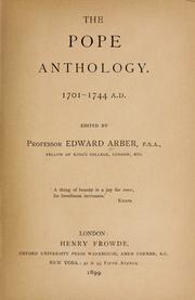 Cover of: The Pope anthology