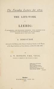 Cover of: The life-work of Liebig