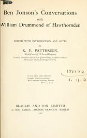 Cover of: Ben Jonsonʹs conversations with William Drummond of Hawthornden
