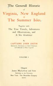 Cover of: The generall historie of Virginia, New-England, and the Summer Isles