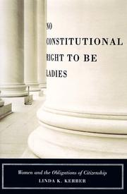 Cover of: No constitutional right to be ladies | Linda K. Kerber