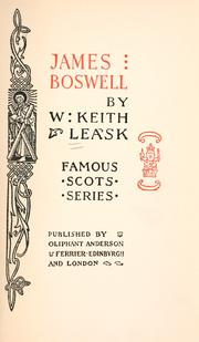 Cover of: James Boswell