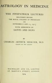 Cover of: Astrology in medicine