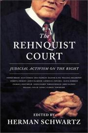 Cover of: The Rehnquist court