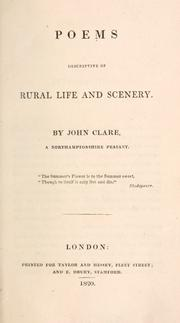 Cover of: Poems descriptive of rural life and scenery