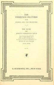 Cover of: The Christmas oratorio by Johann Sebastian Bach