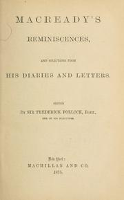Cover of: Reminiscences, and selections from his diaries and letters: Edited by Sir Frederick Pollock.