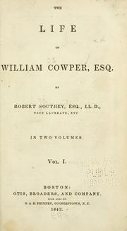 Cover of: The life of William Cowper