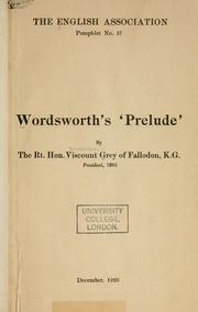 Cover of: Wordsworth's Prelude
