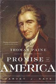 Cover of: Thomas Paine and the Promise of America