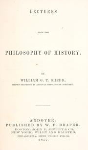 Cover of: Lectures upon the philosophy of history