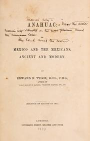 Cover of: Anahuac: or, Mexico and the Mexicans